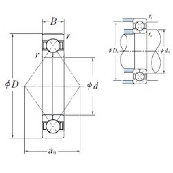 170 mm x 310 mm x 52 mm  NSK QJ 234 angular contact ball bearings #3 image