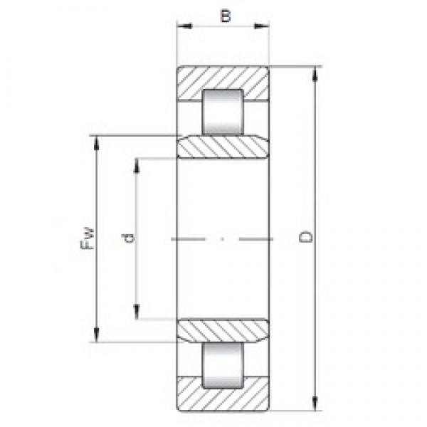 190 mm x 340 mm x 92 mm  ISO NU2238 cylindrical roller bearings #3 image