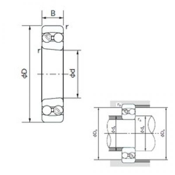 65 mm x 120 mm x 23 mm  NACHI 1213K self aligning ball bearings #3 image