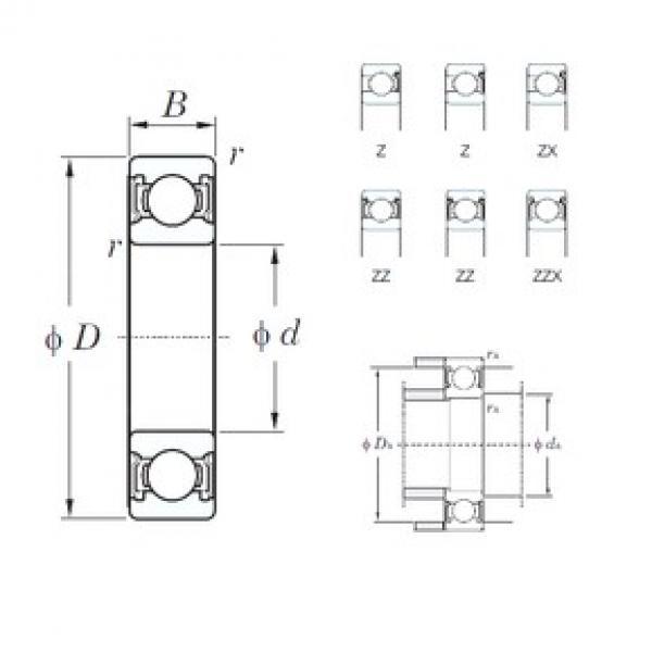 170 mm x 310 mm x 52 mm  KOYO 6234ZZX deep groove ball bearings #3 image