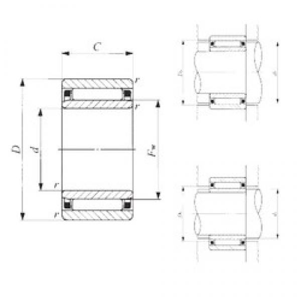 80 mm x 110 mm x 30 mm  IKO NAF 8011030 needle roller bearings #3 image