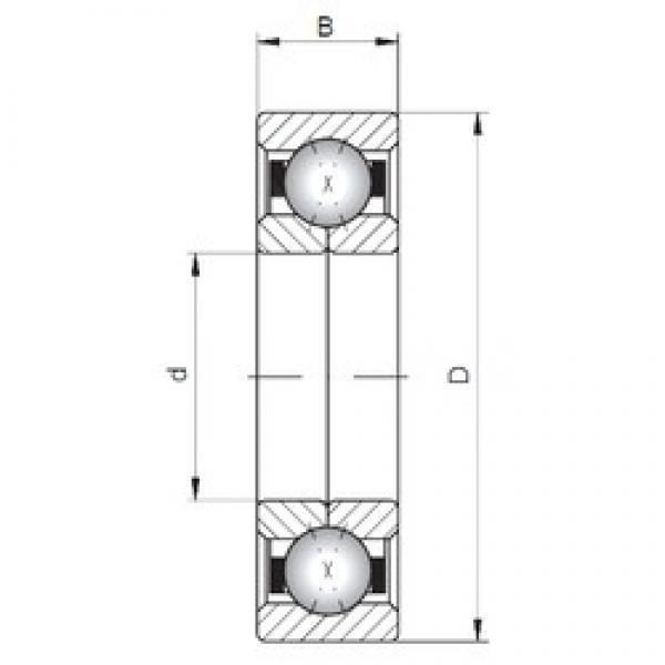 ISO QJ302 angular contact ball bearings #3 image