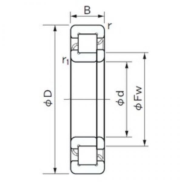 120 mm x 180 mm x 28 mm  NACHI NUP 1024 cylindrical roller bearings #3 image