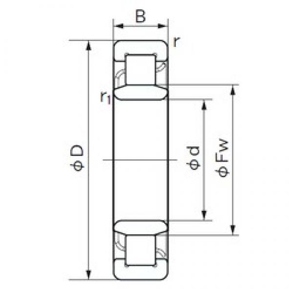 190 mm x 340 mm x 92 mm  NACHI NU 2238 E cylindrical roller bearings #3 image