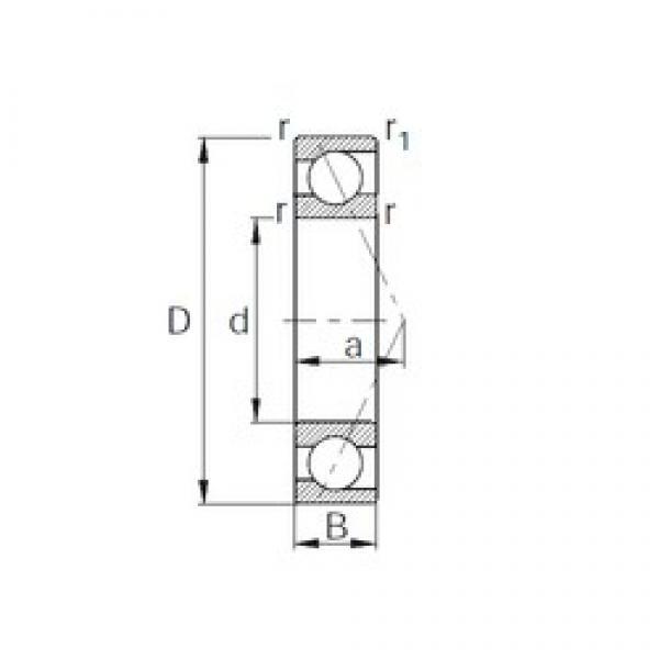 50 mm x 110 mm x 27 mm  KBC 7310B angular contact ball bearings #3 image