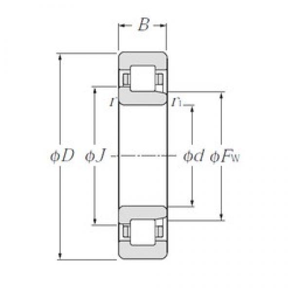 190 mm x 340 mm x 92 mm  NTN NJ2238E cylindrical roller bearings #3 image