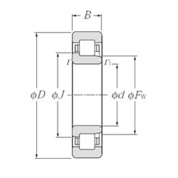80 mm x 140 mm x 26 mm  NTN NJ216E cylindrical roller bearings #3 image