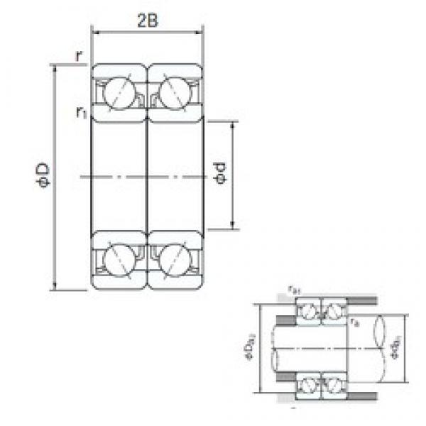 15 mm x 42 mm x 13 mm  NACHI 7302BDB angular contact ball bearings #3 image