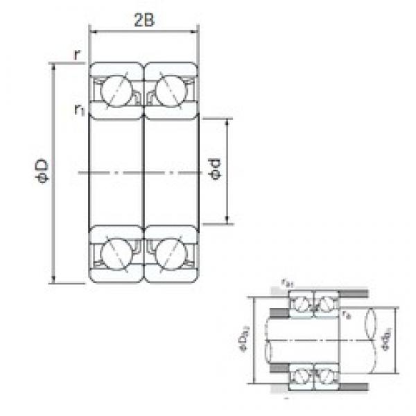 170 mm x 310 mm x 52 mm  NACHI 7234CDB angular contact ball bearings #3 image