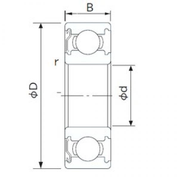 50 mm x 110 mm x 27 mm  NACHI 6310ZE deep groove ball bearings #3 image