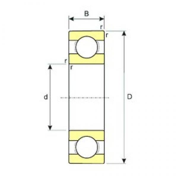 170 mm x 310 mm x 52 mm  ISB 6234 M deep groove ball bearings #3 image