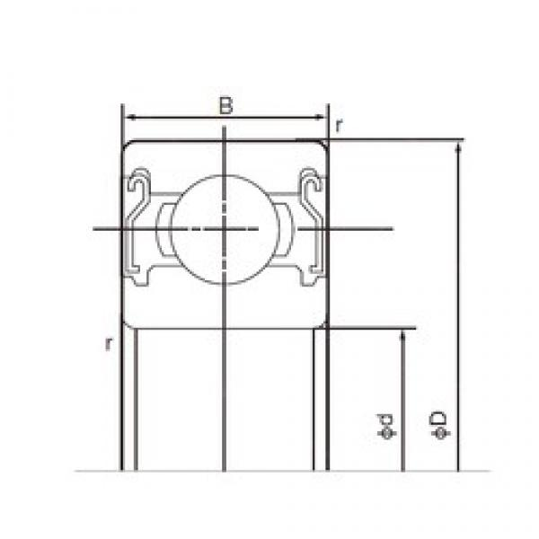 15 mm x 42 mm x 13 mm  NACHI 6302ZZE deep groove ball bearings #3 image