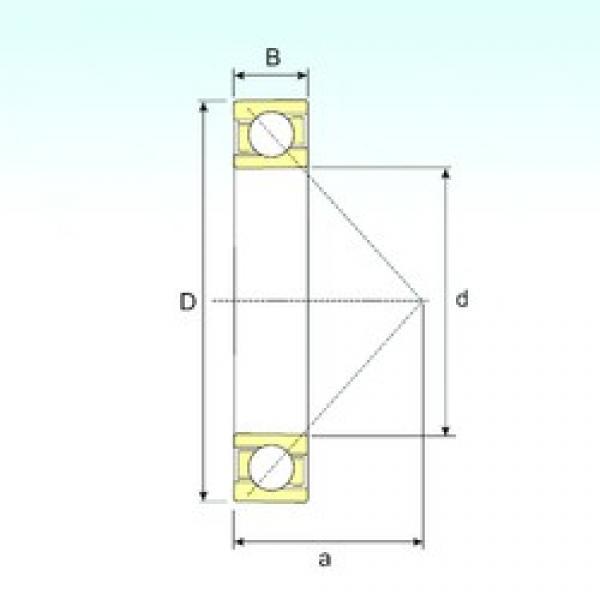 120 mm x 180 mm x 28 mm  ISB 1024 B angular contact ball bearings #3 image