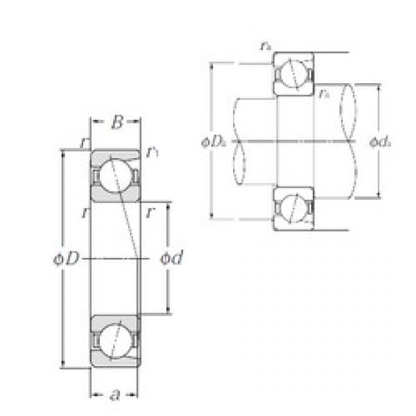 170 mm x 310 mm x 52 mm  NTN 7234B angular contact ball bearings #3 image