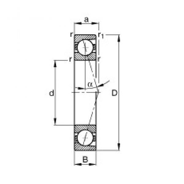 120 mm x 180 mm x 28 mm  FAG B7024-C-T-P4S angular contact ball bearings #3 image