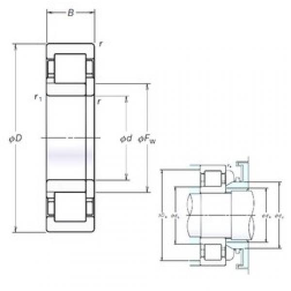 190 mm x 340 mm x 92 mm  NSK NUP2238EM cylindrical roller bearings #3 image