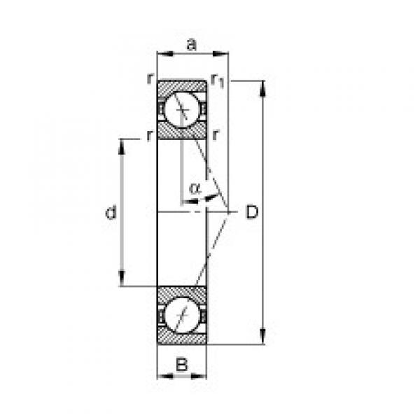 170 mm x 310 mm x 52 mm  FAG B7234-E-T-P4S angular contact ball bearings #3 image