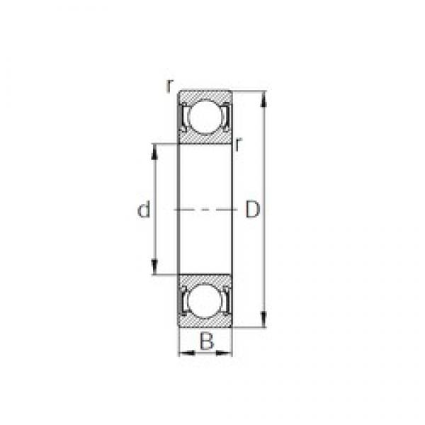 15 mm x 42 mm x 13 mm  CYSD 6302-2RS deep groove ball bearings #3 image