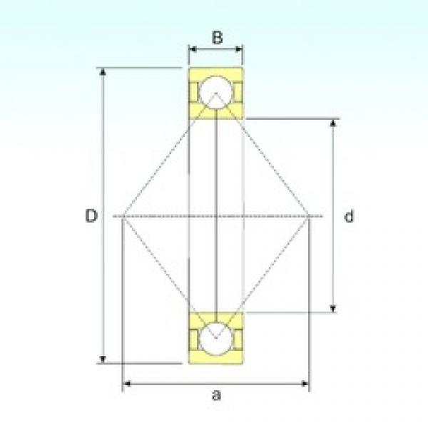 170 mm x 310 mm x 52 mm  ISB QJ 234 N2 M angular contact ball bearings #3 image