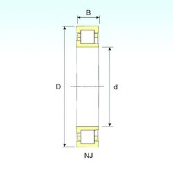 170 mm x 310 mm x 52 mm  ISB NJ 234 cylindrical roller bearings #3 image